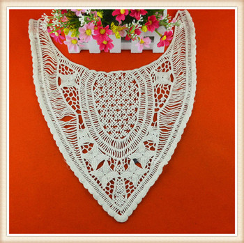 Hot Selling Off White Cotton Hand Work Neck Embroidery Designs For
