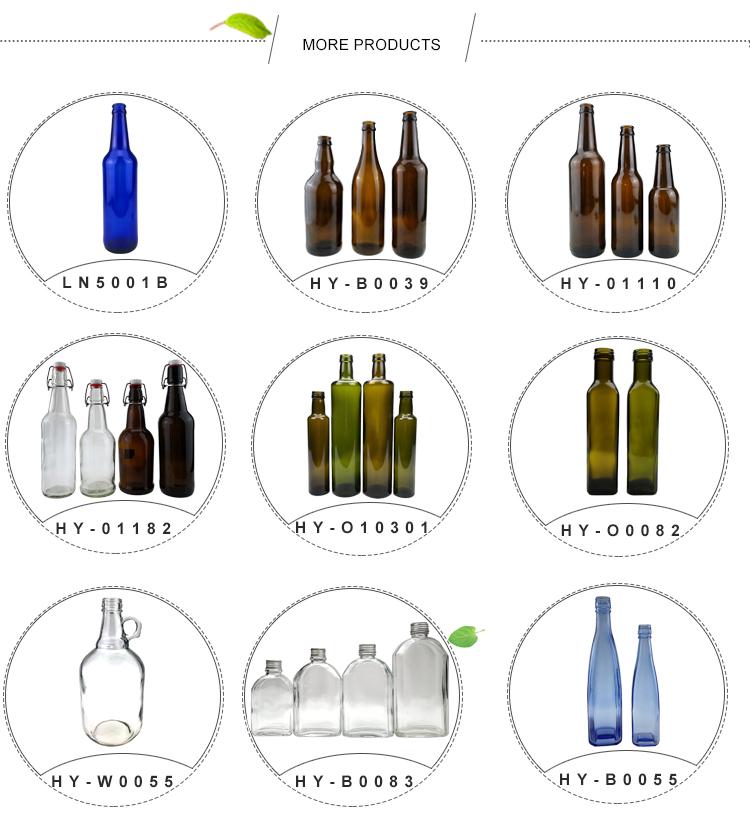 Hot koop aangepaste 350 ml ronde koudgeperste sap glazen fles met schroef aluminium cap