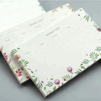 2017 Custom Design Printed Desk Planner Weekly Plan Notebook Buy