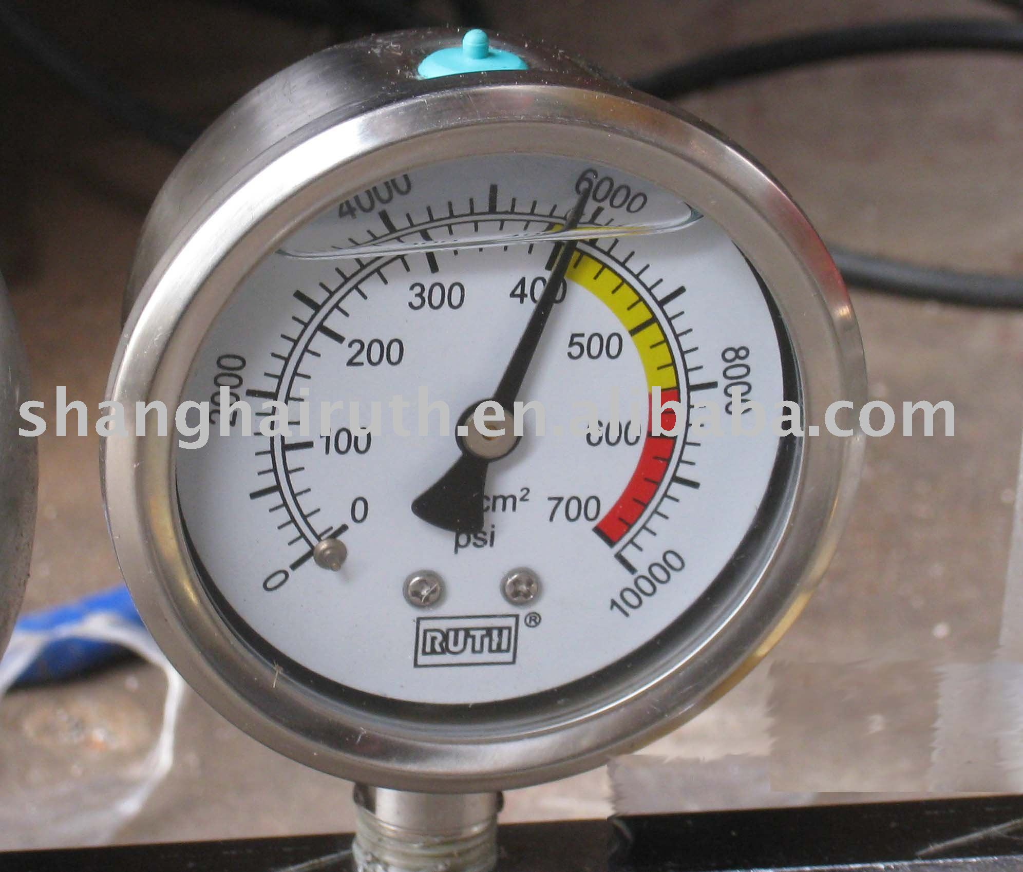 High Pressure Meter : Manómetro de alta presión la máquina inyección