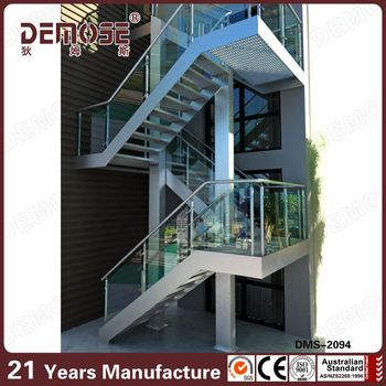 Exterior Outdoor Steel Staircase With Mild Steel Railing Grill DesignExterior Outdoor Steel Staircase With Mild Steel Railing Grill  . Outdoor Metal Staircase Design. Home Design Ideas
