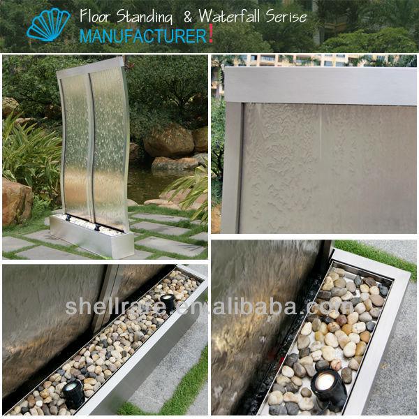 estilo s cascada fuente fuente de agua con luz led para la decoracin interior y