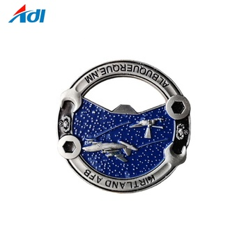 Multifunctional valuable soft enamel AFB bottle opener coins of china