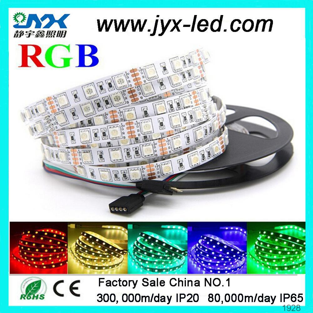 Waterproof RGB Strip SMD 5050 60LEDs RGB Flexible LED Strip Light Lamp Kit Plus 44 Key IR Remote Controller