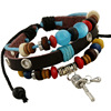 2016 new design hot selling latest leather beaded multi-colors folk inspirational bracelets