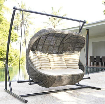 Stani Wooden Swing Patio With Canopy