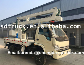 Foton right hand drive 12M aerial platform truck Chinese manufacturer factory price for sale