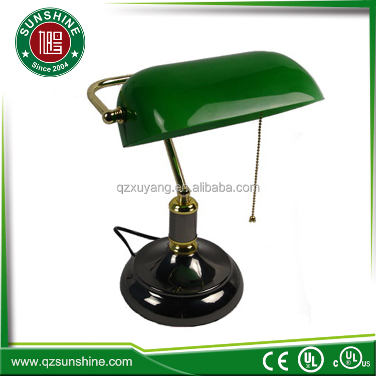 Traditional Electric Energy Saving Banker Lamp With Green Glass ...