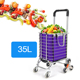 Fashion Stair-Climbing Folding Shopping Trolley Bag Folding Shopping Cart