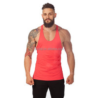 Fitness Stringer Tank with coral pink, Golds gym singlet wholesale two tone gym mens stringer singlet