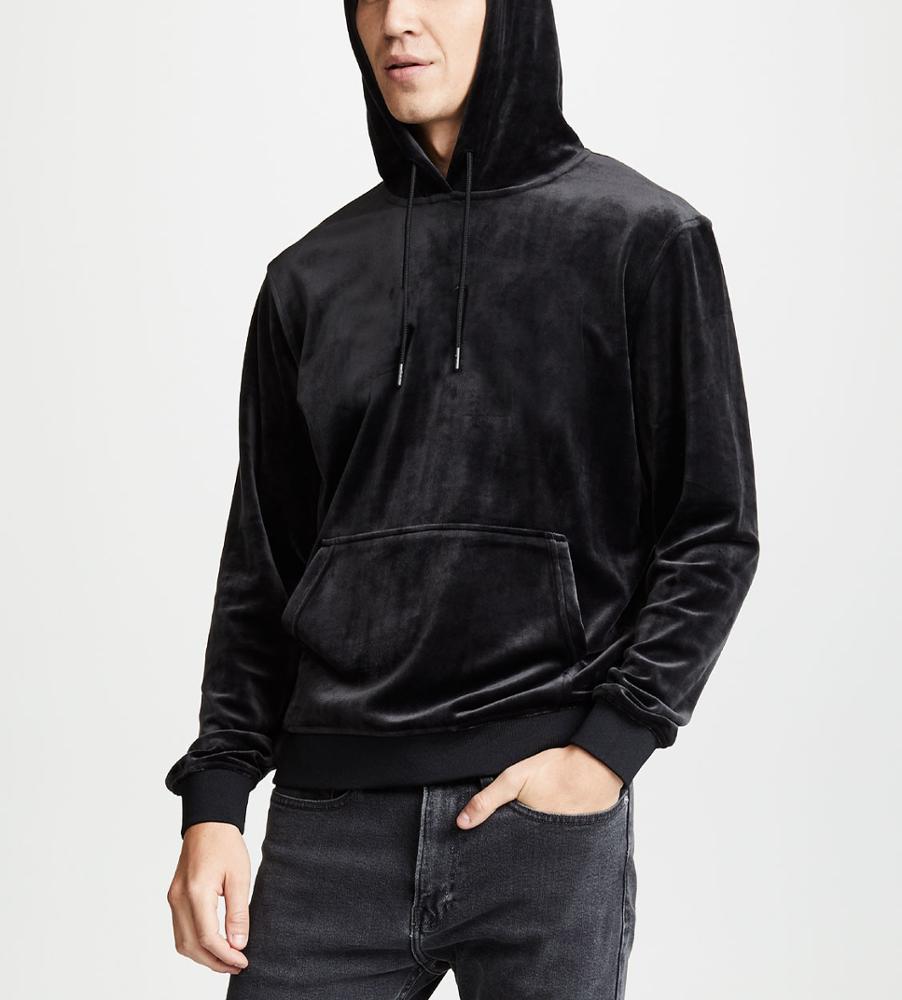 Wholesale Custom Hot Sale Men's Velour Hoodie Oversized Hoodie
