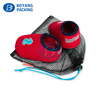 Wholesale Custom Printed portable Drawstring Nylon Mesh Shoe Bags