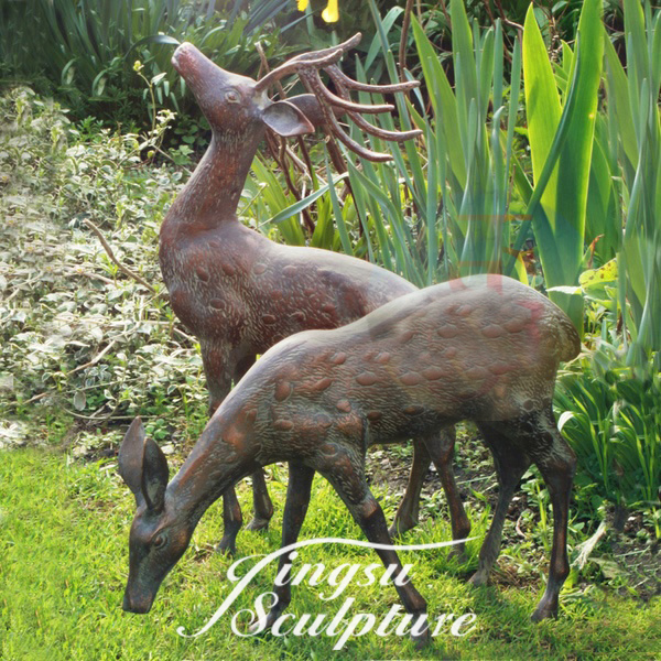 Directly Factory cast iron deer statue