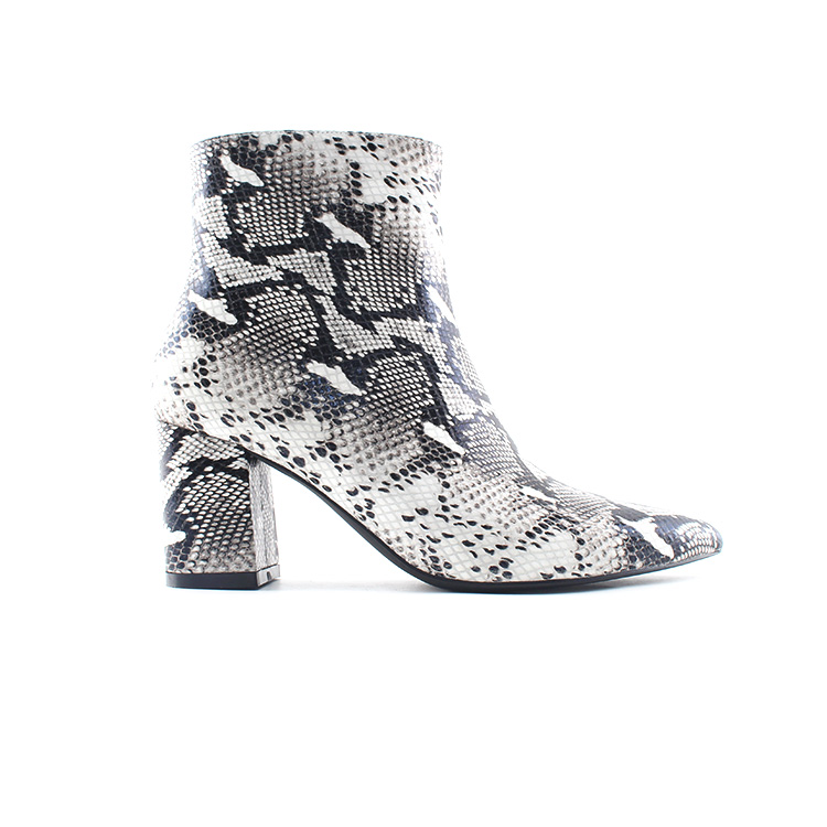 Winter Fashion High Heels Black Boots Women/'s Rhinestone Shoes Block Heel Pumps