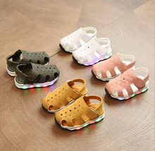 X83001A child led shoes kids, children sandals shoes with lights for kids