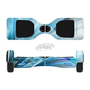 The Vibrant Curving Blue HD Lines Full-Body Wrap Skin Kit for the iiRov HoverBoards and other Scooter (HOVERBOARD NOT INCLUDED)
