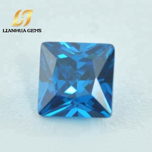 Hot factory direct stones synthetic blue zircon cubic zirconia gemstones for cz jewelry inlay