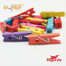 Colored high quality Spring Wooden peg&Wooden clip for European markets