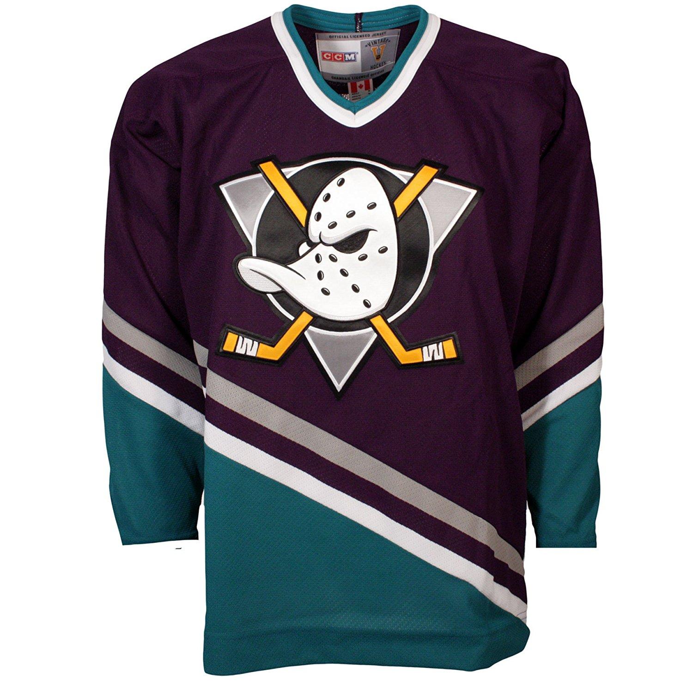 Get Quotations · Anaheim Mighty Ducks Vintage Replica Jersey 1993-94 (Away) 843a483338d