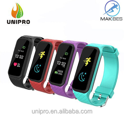 Makibes L38I Color-full Screen smartband BT Dynamic Heart Rate Smart Band Smart Bracelet For apple IOS android OS