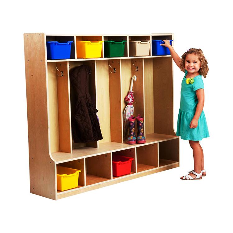 High Quality Preschool Kindergarten Furniture Malaysia Cubbies Boys Locker Room Bedroom