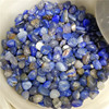 Polished natural blue agate crystals healing gravel stones healing crystals