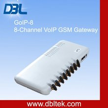 8-Channel GSM VoIP Gateway with Speech Quality Ensured and Easy Installation GoIP_8