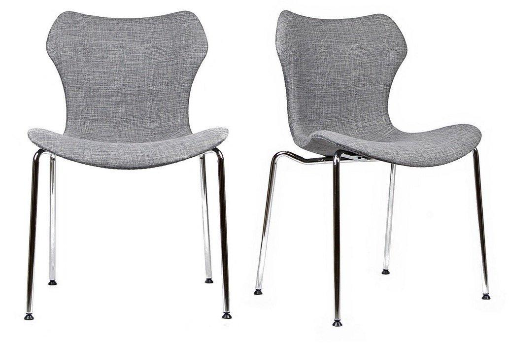 Gramercy Mid Century Modern Dining Chairs (SET OF 2) (Dark Grey)