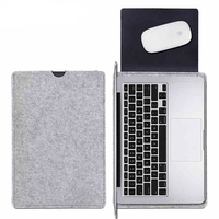 2017 hot sell handmade fashion high quality grey wool business bag felt laptop sleeve made in China