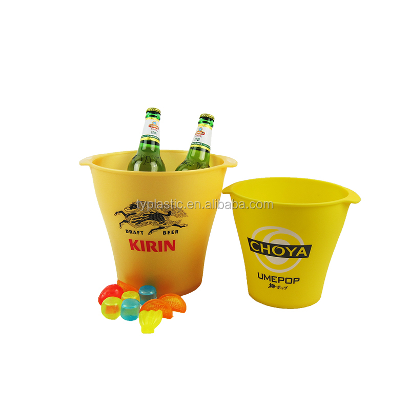 Online Shop China 4.5L Champagne Custom Plastic Ice Bucket For Promotion