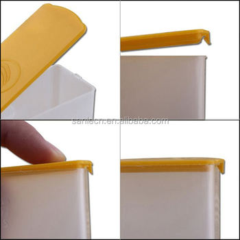 Flat Small Pp Square Storage Box With Easy Open Cap