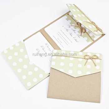 Colorful Green Kraft Paper Pocket Fold