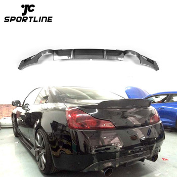 09 13 Carbon Fiber G37 Car Rear Diffuser For Infiniti 2d Coupe G Series