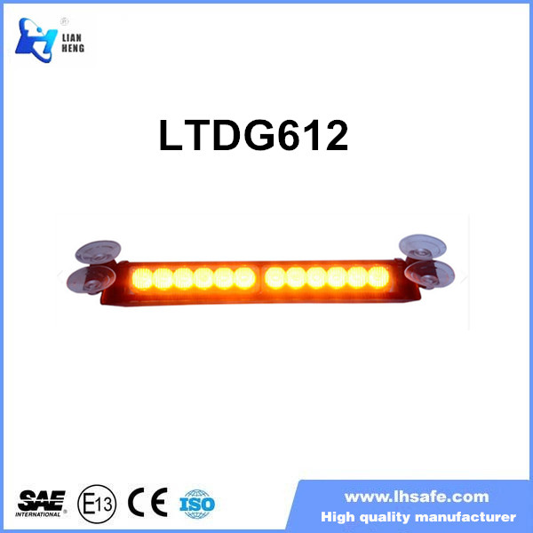 Amber LED security car deck light police vehicle warning dash lightbar LTDG612