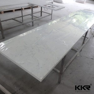 office countertops / acrylic solid surface worktop / artificial stone bench top