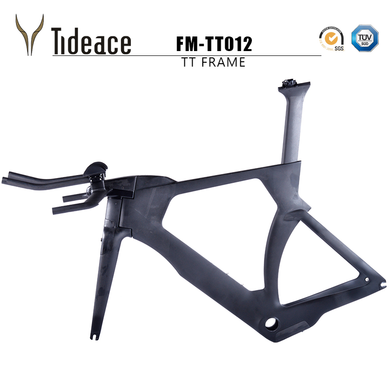 NEW Tideace time trial tt bike frame road bicycle carbon frame super cool with handlebar and TRP brakes