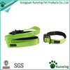 Premium Nylon Dog Leash with Padded Double Handles and Matching Green Dog Collar