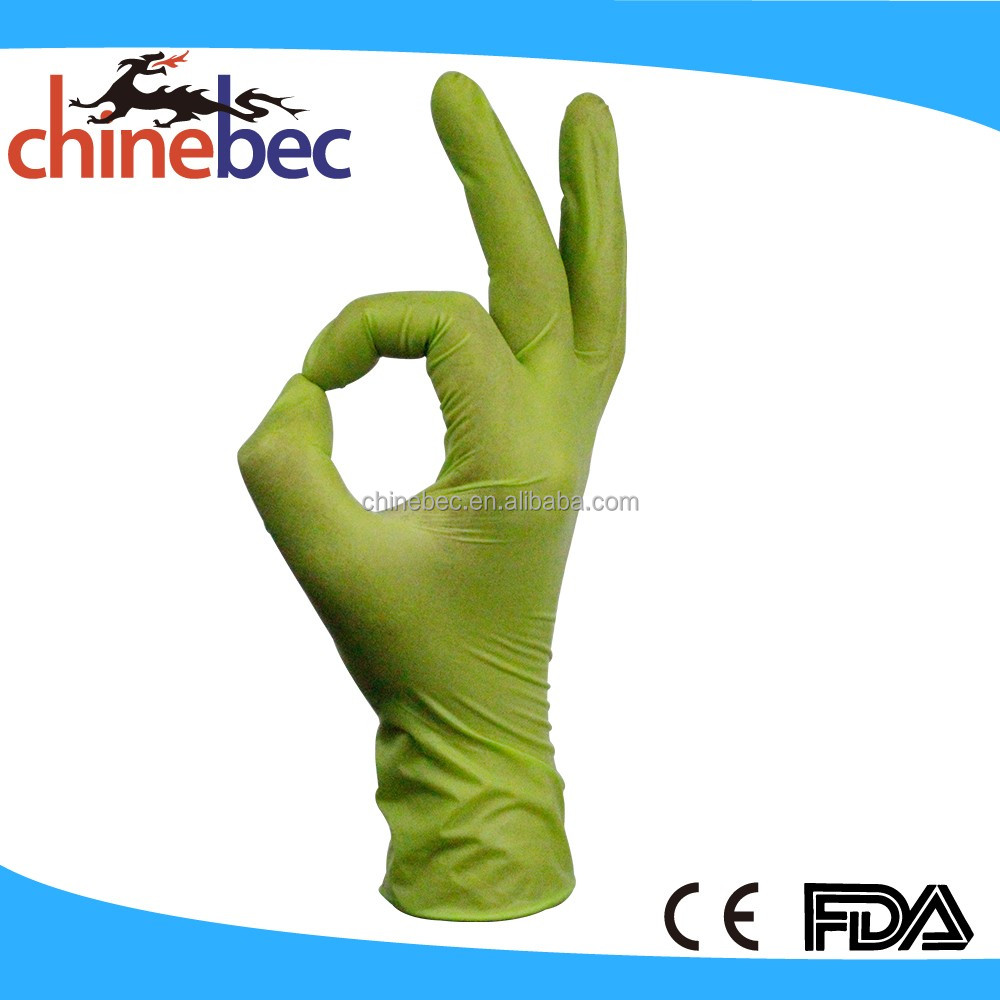 Non Sterile Disposable Hospital Latex Examination Medical Gloves