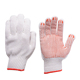 10G natural white work glove with PVC dots on palm
