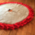 Wholesale Burlap With Red Double Ruffle Christmas Tree Skirt