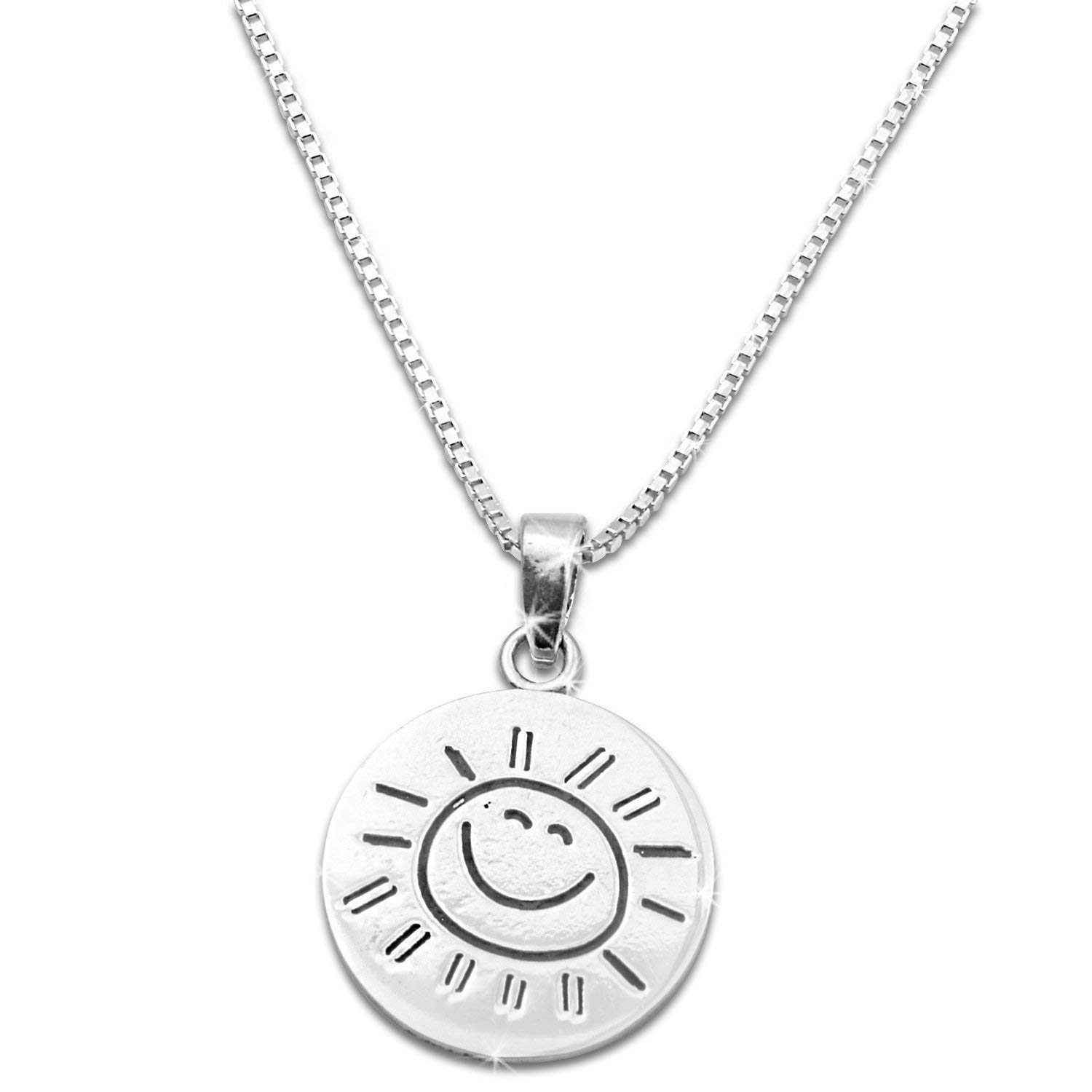 "Sterling Silver ""You are my Sunshine my only Sunshine"" Necklace (18"" chain included)"