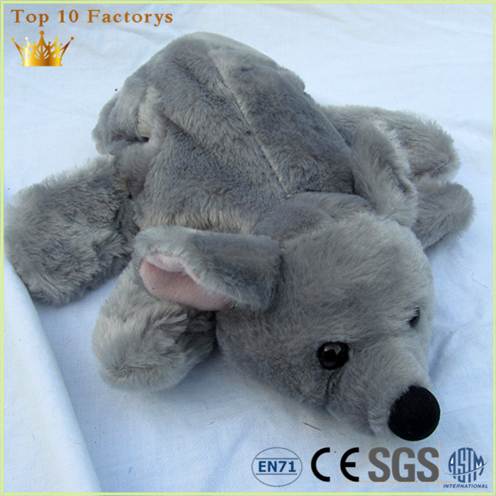 Realistic grey animal kids Stitch toy rat mickey mouse hand puppet