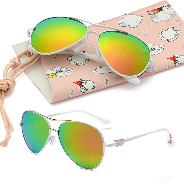 Classic Baby Kids Children Toddler Boys Girls Metal&TR90 Sports Polarized Sunglasses UV400 Protect Outdoor Sun Glasses V203
