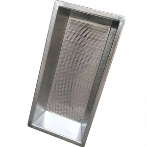 Stainless steel square mesh basket for kitchen