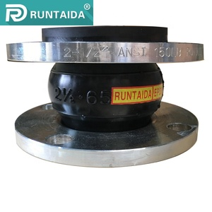 Manufacturer pipe fitting industry DN100 expansion flexible rubber joint flange