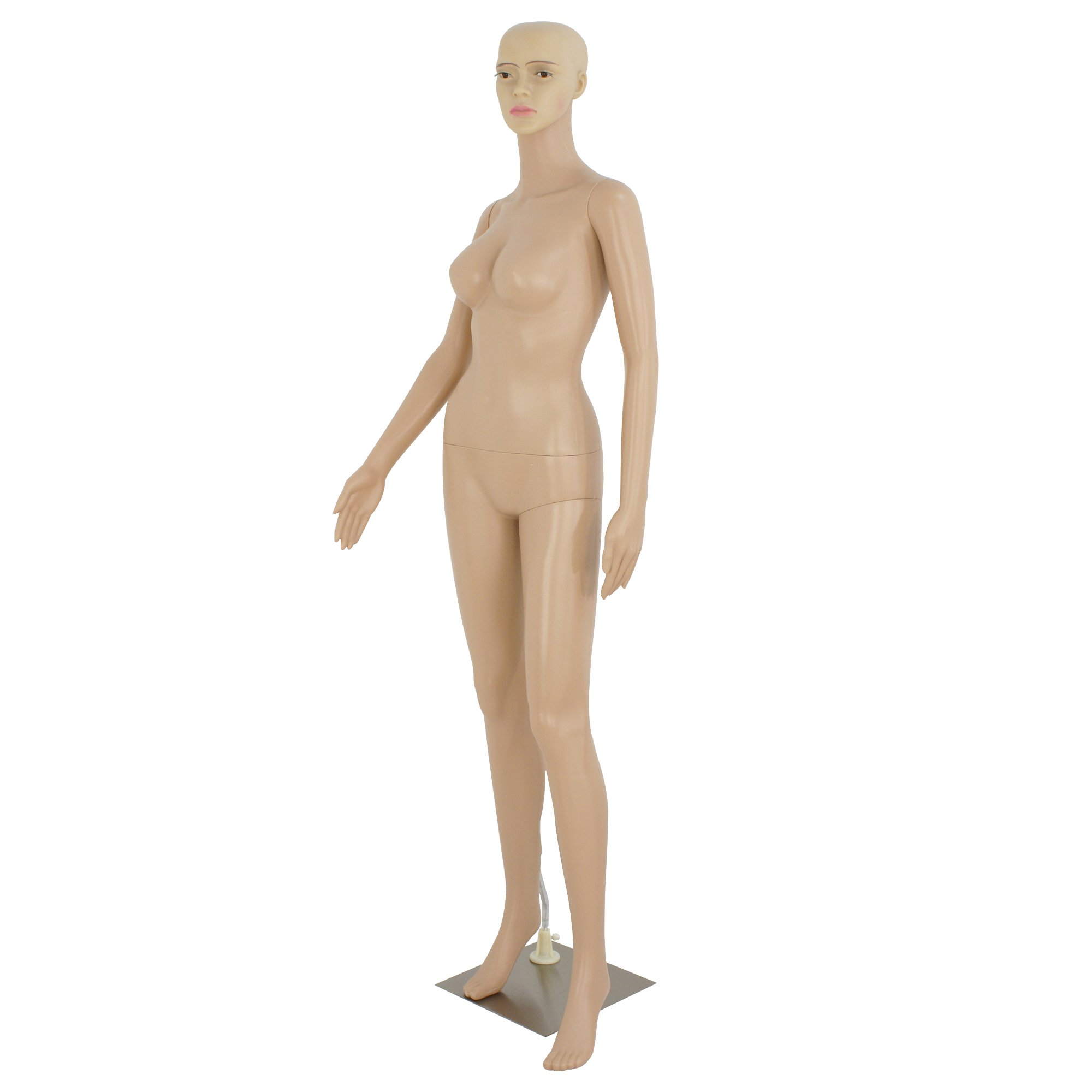 Yaheetech 68.9 Adjustable Detachable Plastic Full Body Adult Female Mannequin Dress Form w//Base