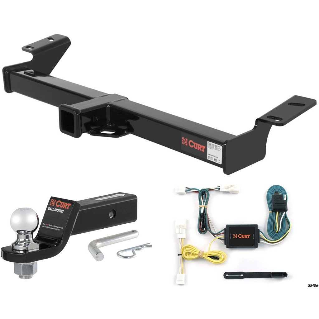 "CURT Class 3 Trailer Hitch Tow Package with 2"" Ball for 1996-2000 Toyota RAV4"