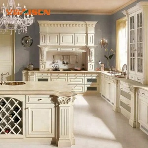 Wood French Kitchen Design Apartment Kitchen Cabinet In High Quality
