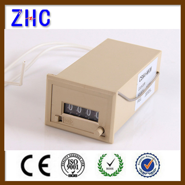 CSK4 12V 24V Digital electric mechanical cable hour meter