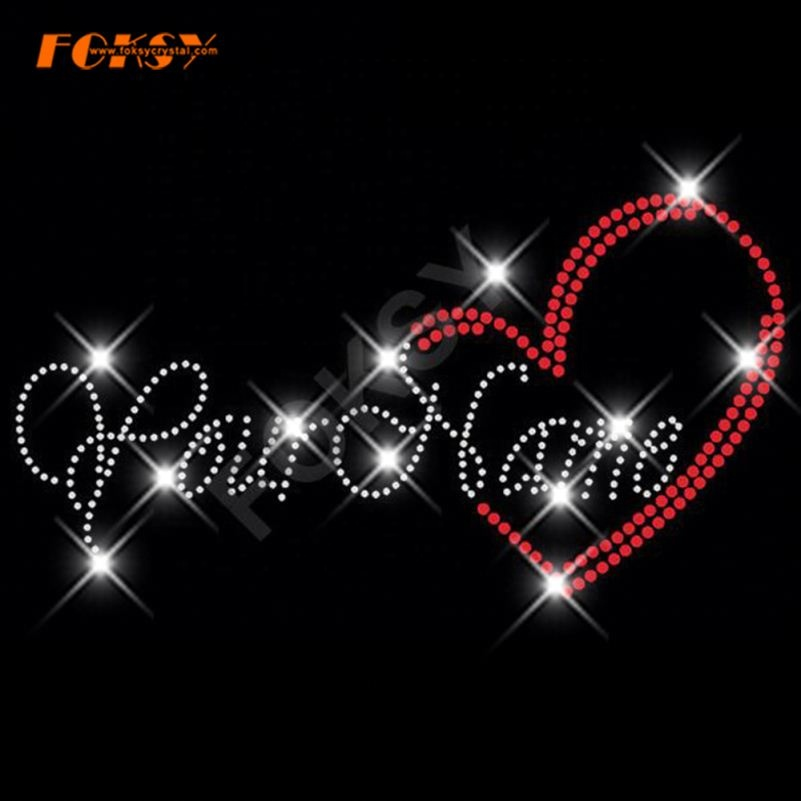 Mrs Heart Bride Wedding Custom Name Iron On Rhinestone Transfer Bling Choose Color Applique Decal